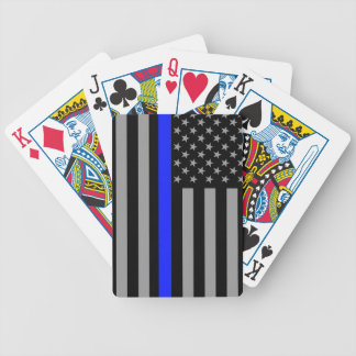 Thin Blue Line Flag Playing Cards
