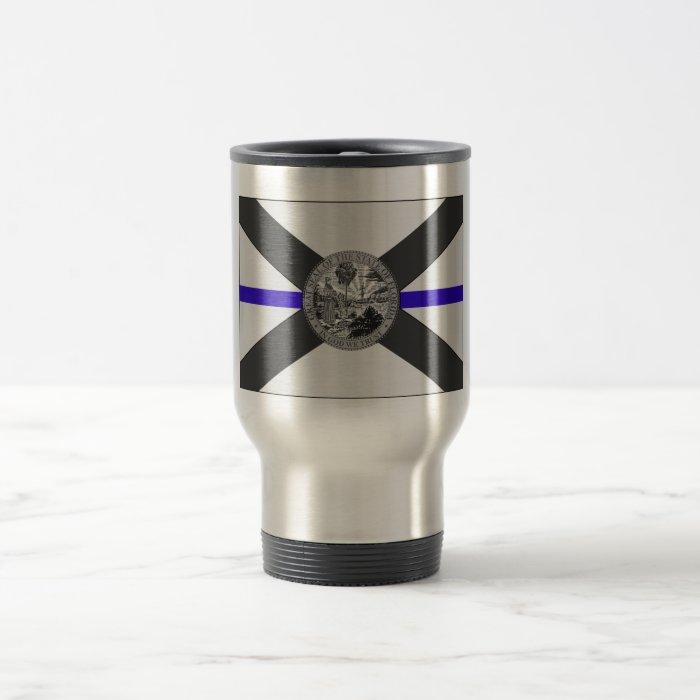 Thin Blue Line Florida State Flag Coffee Mug Zazzle