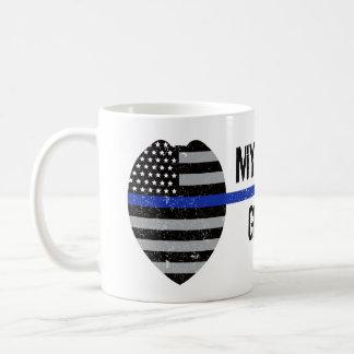 Thin Blue Line, Got Your Six, Police Wife Mug