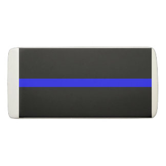 Thin Blue Line graphic on a Eraser