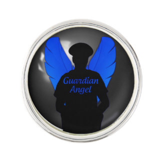 Thin Blue Line Guardian Angel Lapel Pin