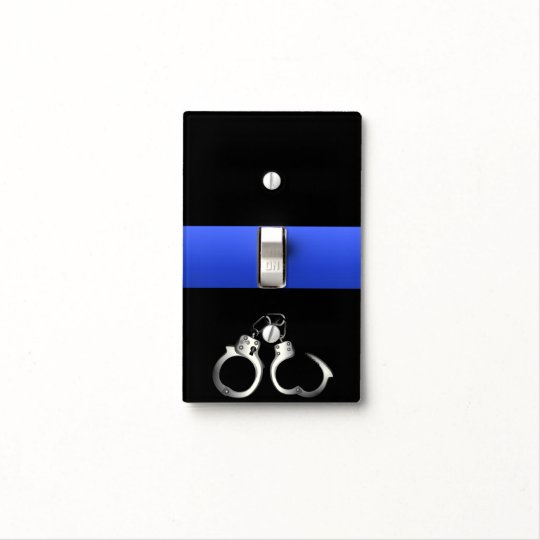 Thin Blue Line Handcuffs Light Switch Cover