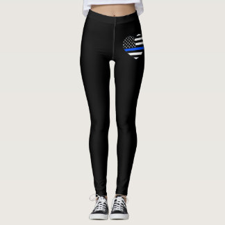 Thin Blue Line Heart Women's Leggings