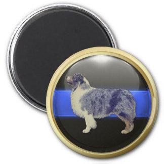 Thin Blue Line I Am A Sheepdog 2 Inch Round Magnet