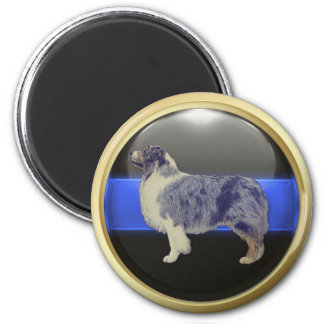 Thin Blue Line I Am A Sheepdog Magnet