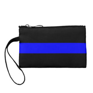 Thin Blue Line Key Coin Clutch Coin Purse