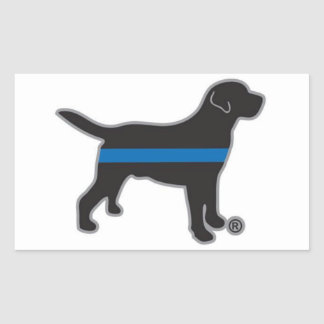 Thin Blue Line Lab Sticker