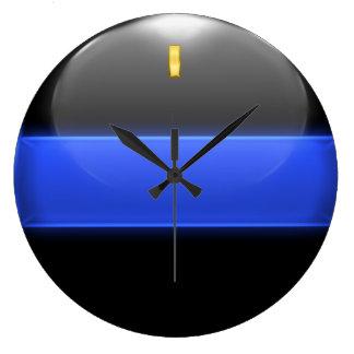 Thin Blue Line Lieutenant Insignia Rank Large Clock