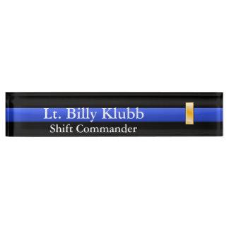 Thin Blue Line - Lieutenant Rank Name Plate