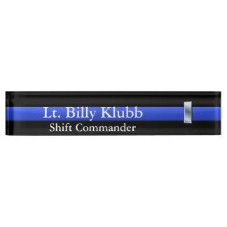 Thin Blue Line - Lieutenant Rank Nameplate