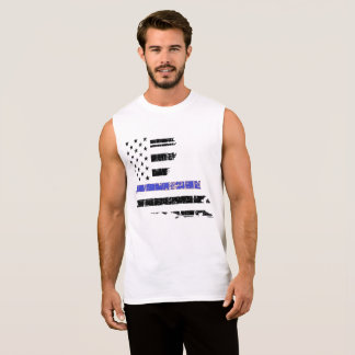 Thin Blue Line Louisiana Law SLEEVELESS MUSCLE TEE
