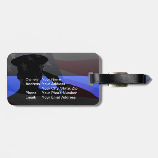 Thin Blue Line Luggage ID Luggage Tag