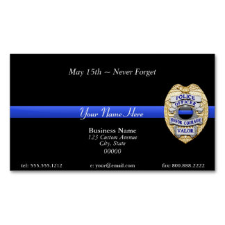 Thin Blue Line Magnetic Business Card