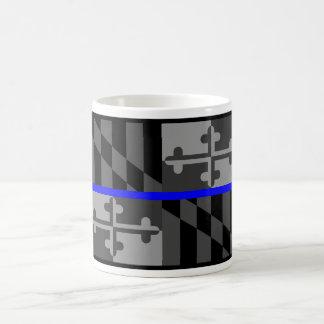 THIN BLUE LINE MARYLAND STATE FLAG COFFEE MUG