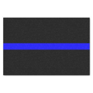 Thin Blue Line Memorial Symbol on Tissue Paper