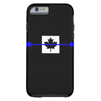 Thin Blue Line on Canadian Flag Decor Tough iPhone 6 Case