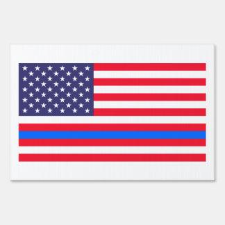 """THIN BLUE LINE on FLAG"" (SINGLE-SIDED)"