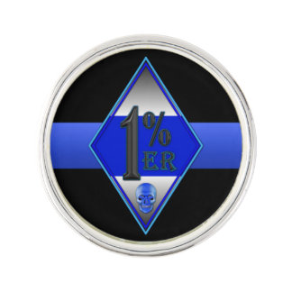 Thin Blue Line One Percenter Lapel Pin