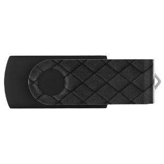 Thin Blue Line Police Basket Weave Tuck and Roll USB Flash Drive