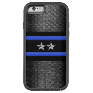 Thin Blue Line - Police Chief Basket Weave Tough Xtreme iPhone 6 Case