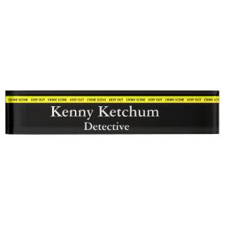 Thin Blue Line - Police Crime Scene Tape Nameplate
