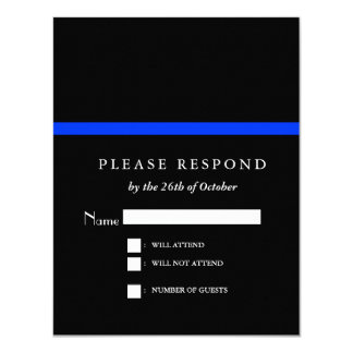 "Thin Blue Line Police Event RSVP 4.25"" X 5.5"" Invitation Card"