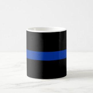 thin blue line police law coffee mug