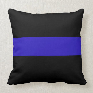 Thin Blue Line Police Law Enforcement Throw Pillow