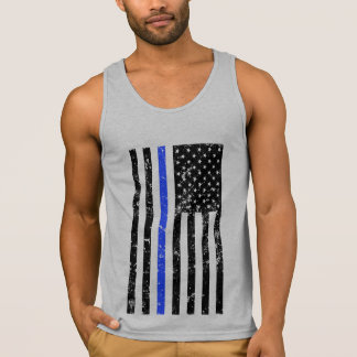 Thin Blue Line - Police Officer - Distressed Flag