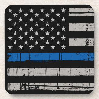 Thin Blue Line - Police Officer - K9 Police Dog Coaster