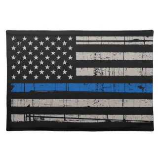 Thin Blue Line - Police Officer - K9 Police Dog Placemat