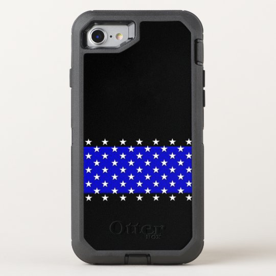 Thin Blue Line Police Stars OtterBox Defender iPhone 8/7 Case