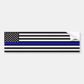 Thin blue line Police Support Bumper Sticker