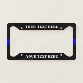 Thin blue line Police Support Licence Plate Frame