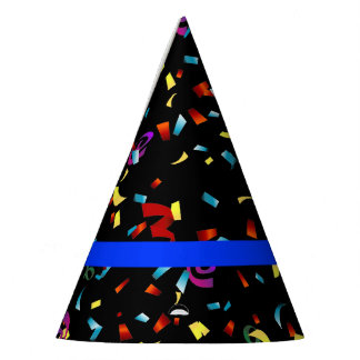 Thin Blue Line Police Themed Party Confetti Party Hat