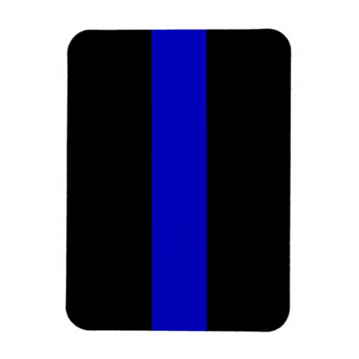 Thin Blue Line Rectangle Magnets