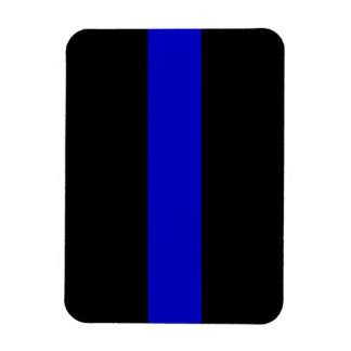 Thin Blue Line Rectangular Photo Magnet
