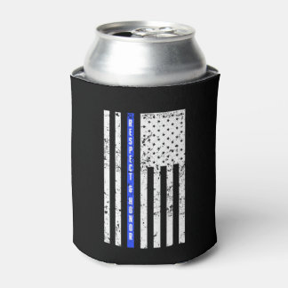 Thin Blue Line - Respect and Honor - can cooler