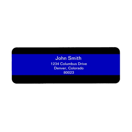 Thin Blue Line Return Address Label