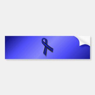 Thin Blue Line Ribbon Bumper Sticker