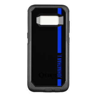 Thin Blue Line Serviceman Custom Name OtterBox Commuter Samsung Galaxy S8 Case