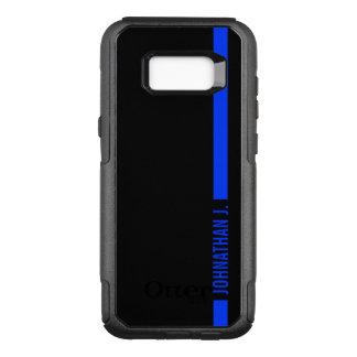 Thin Blue Line Serviceman Custom Name OtterBox Commuter Samsung Galaxy S8+ Case