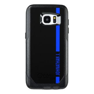 Thin Blue Line Serviceman Custom Name OtterBox Samsung Galaxy S7 Edge Case