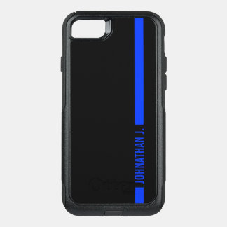 Thin Blue Line Serviceman Customized Name OtterBox Commuter iPhone 8/7 Case