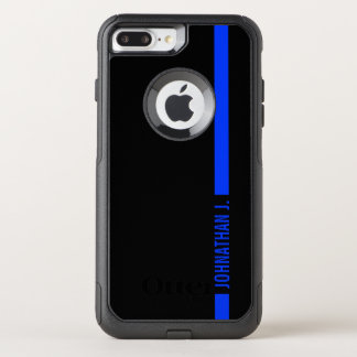 Thin Blue Line Serviceman Customized Name OtterBox Commuter iPhone 8 Plus/7 Plus Case