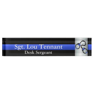 Thin Blue Line - Shackled to the Brotherhood Desk Nameplates