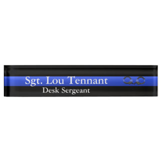 Thin Blue Line - Shackled to the Brotherhood Nameplate