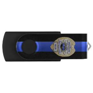 Thin Blue Line Shackled to the Brotherhood USB Flash Drive