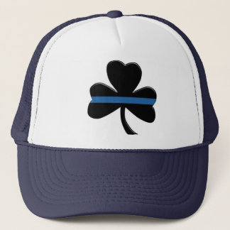 Thin Blue Line: Shamrock Trucker Hat
