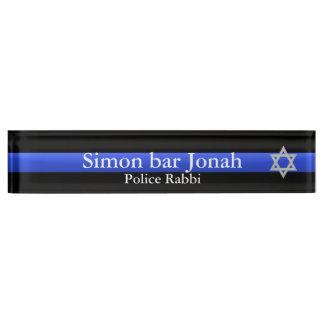 Thin Blue Line - Star of David Nameplate